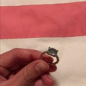 Pandora Blue Topaz Ring Size 5.5